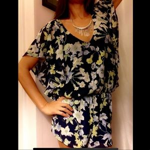 Lucca Couture Floral Butterfly Sleeve Romper